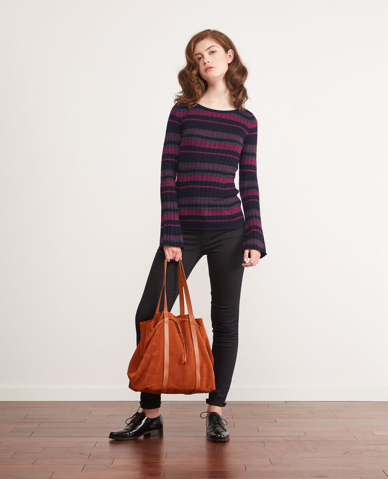 Shopping Bag aus Bimaterial-Leder Rust Debut