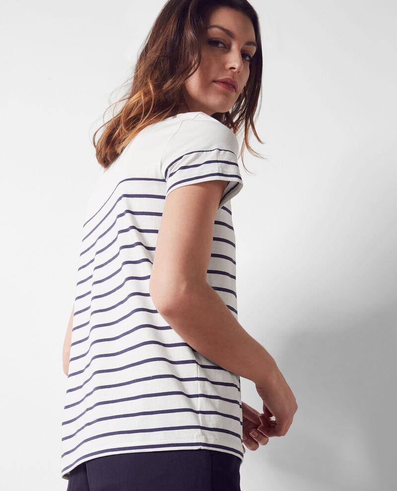 T-Shirt style marinière avec laçage devant White/midnight Caradoc