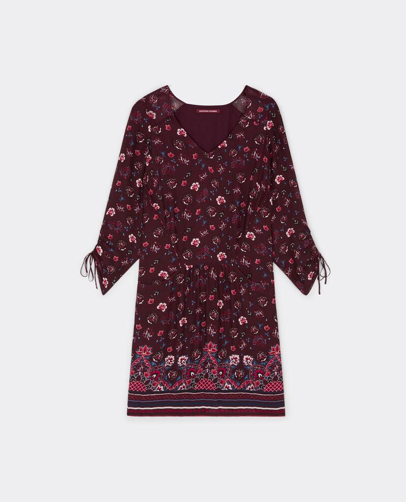 Robe bohème imprimée Woodstock rouge Bareto