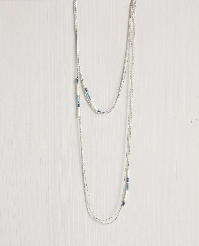 Double chain necklace Bondi blue Chapitre