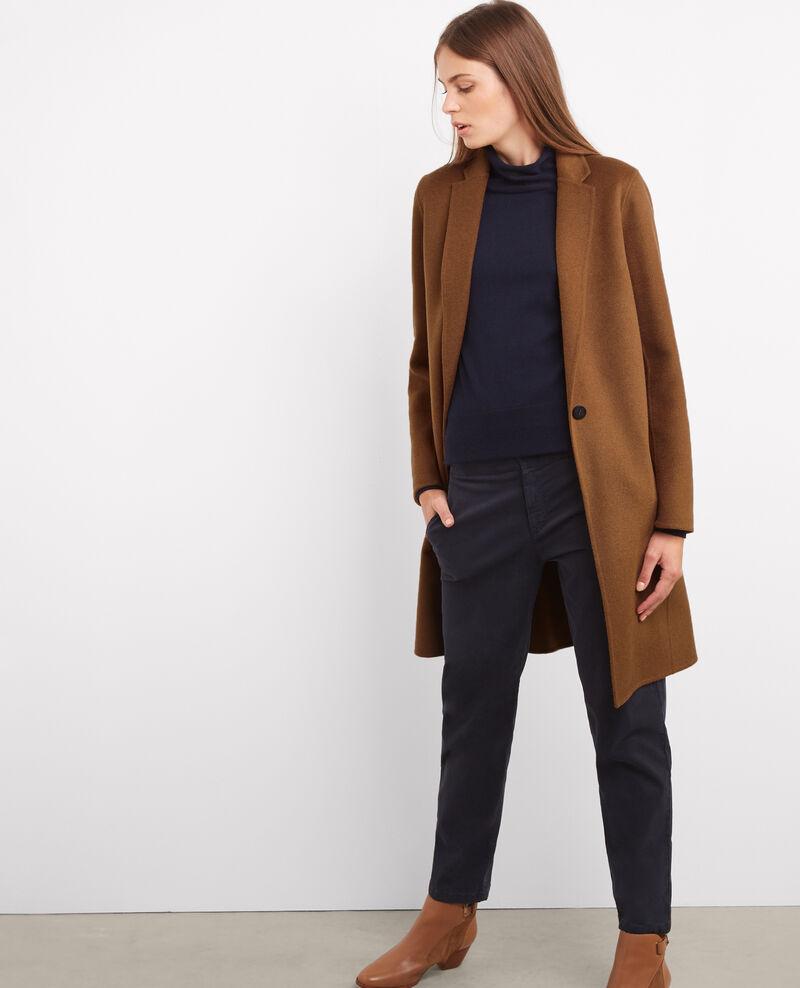 Manteau officier avec laine dark safron bexpresso - Manteau cape comptoir des cotonniers ...