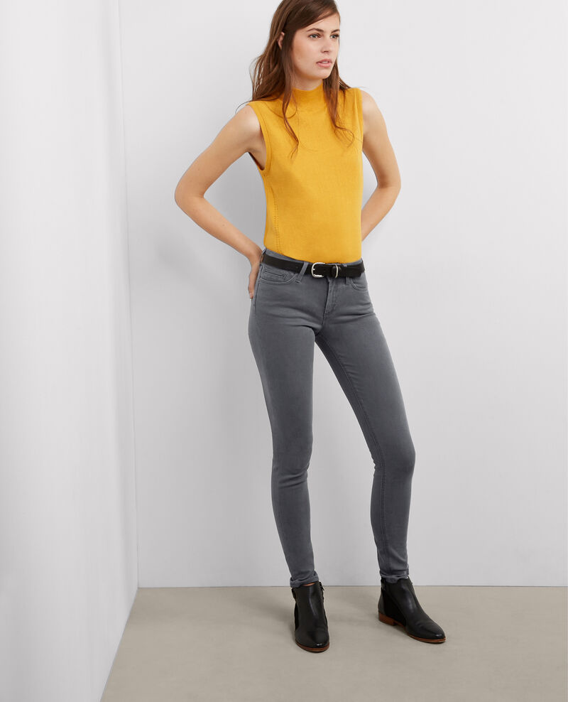 "Jeans skinny ""Jolie-chérie"" Medium grey Babou"