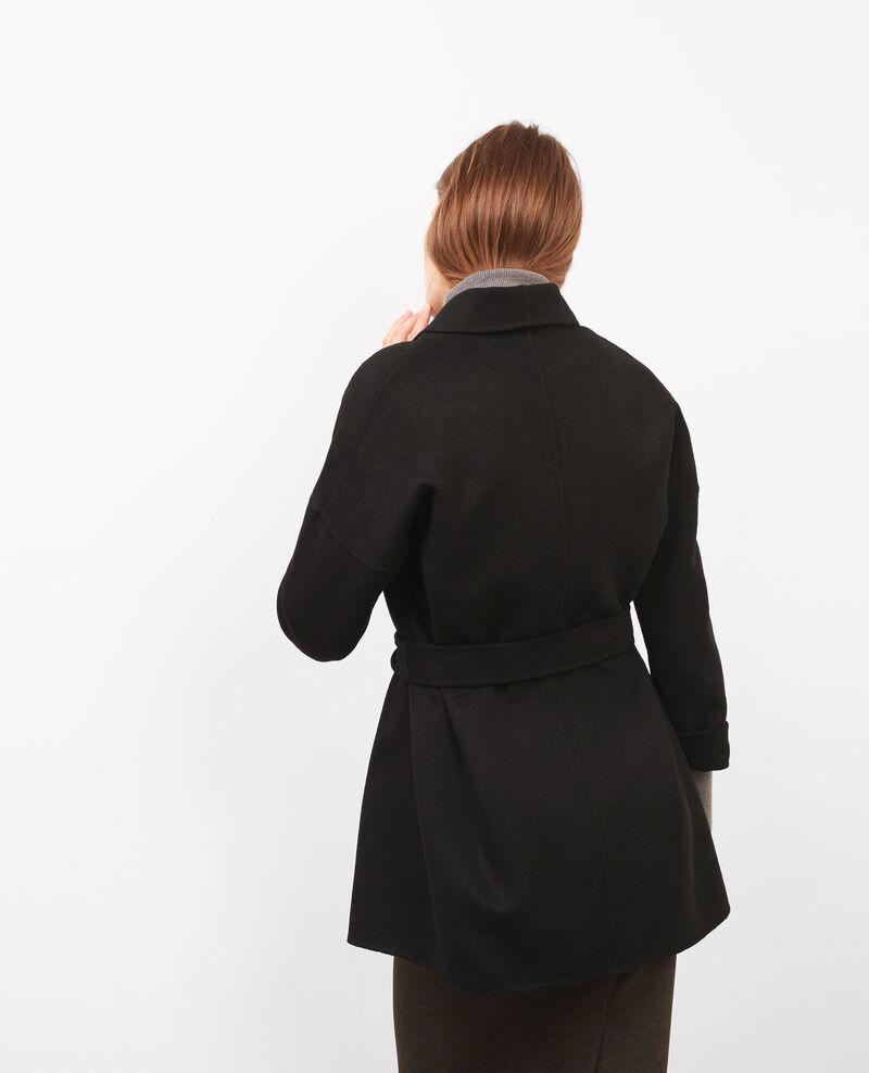 Manteau avec laine Noir Bonbi