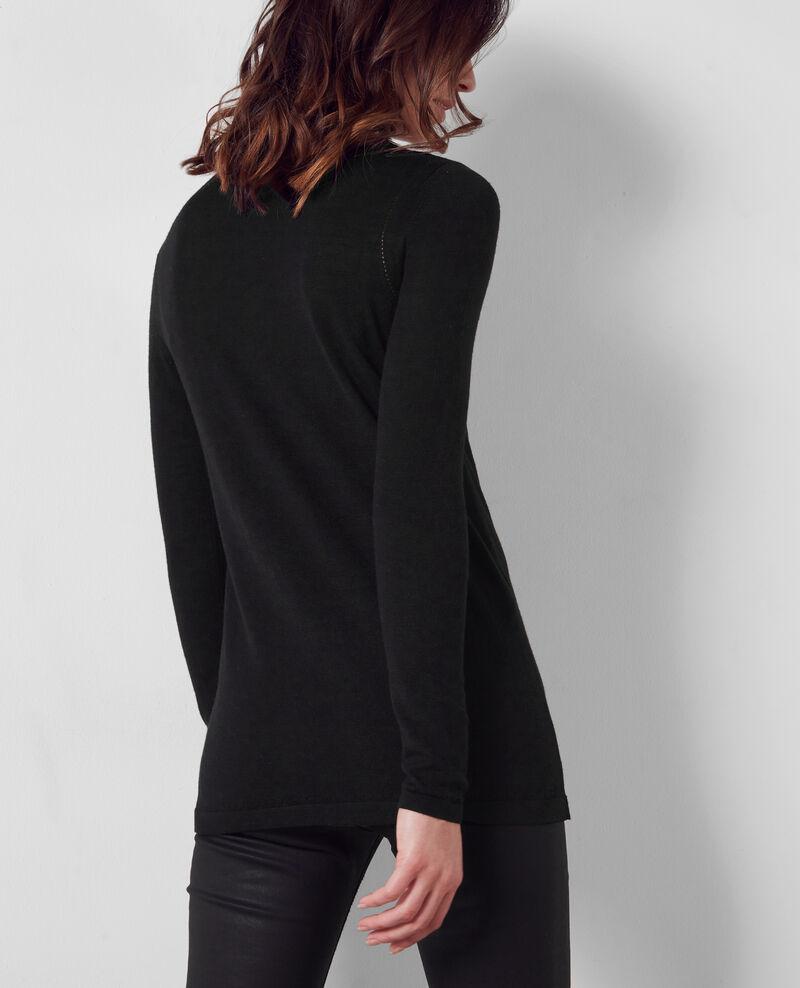 Cárdigan fino de lana merino Noir Cocorico