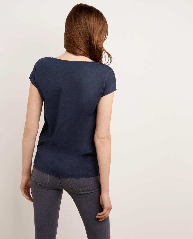 Blusa de dos tejidos con seda Twilight Borneo