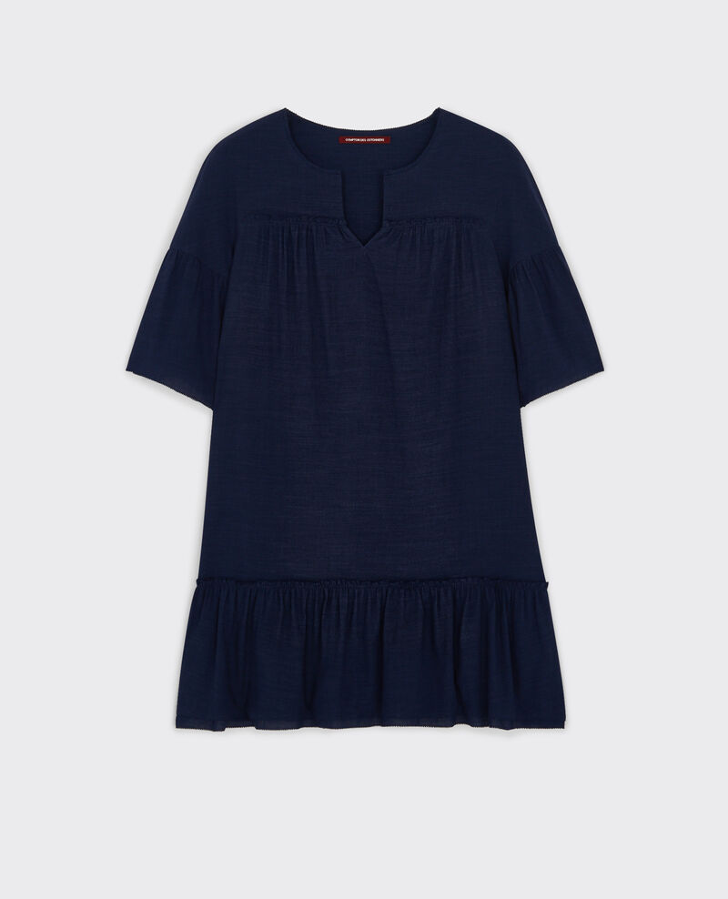 Robe ample avec volants Dark slate blue Cindiana
