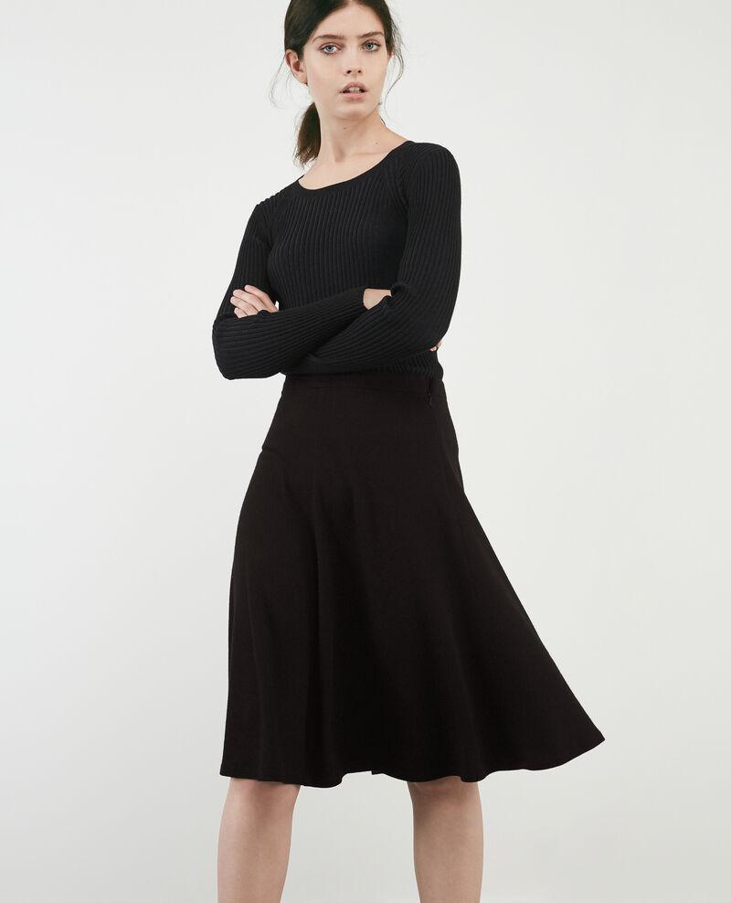 Jupe avec laine Noir Duchesse