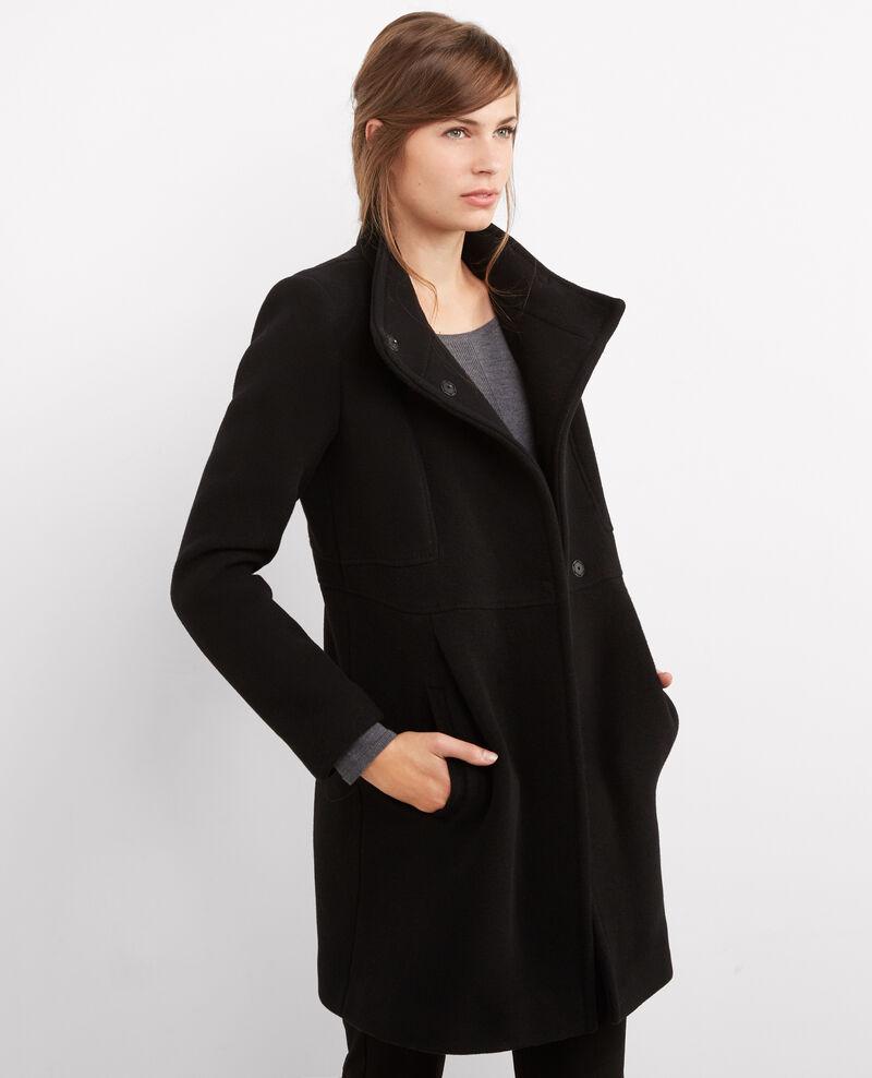 Abrigo entallado de lana Noir Bimalu