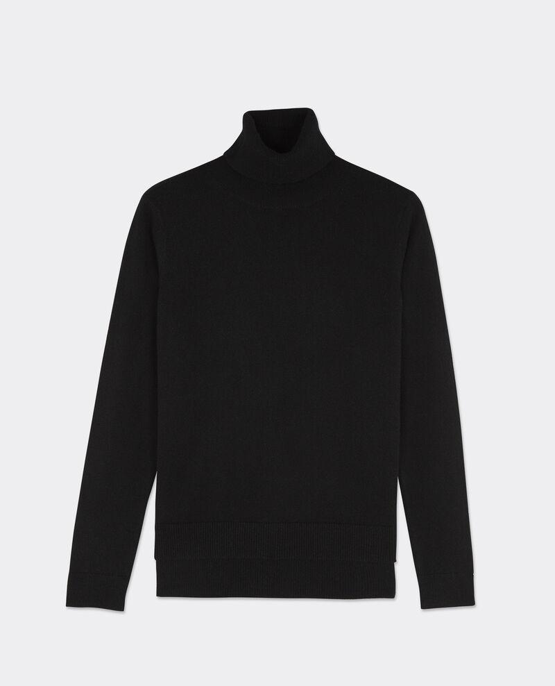 Jersey cuello vuelto de cachemir Noir Bruno