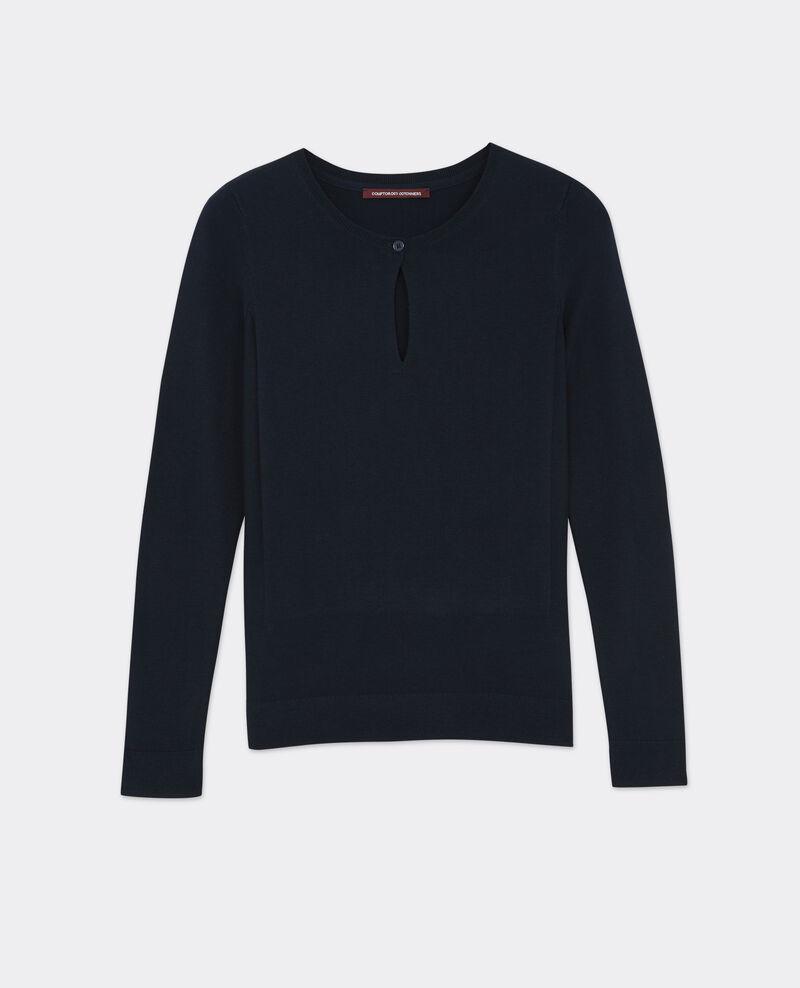Jersey fino con lana Dark ocean Bernard