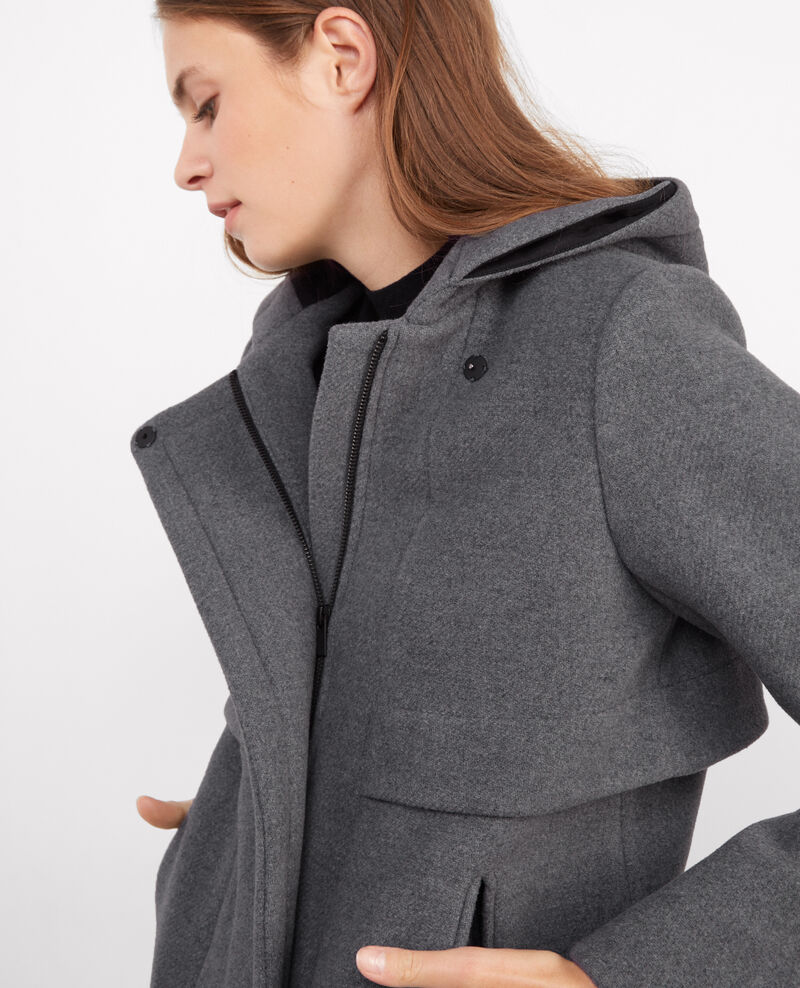 Parka avec laine à capuche Medium heather grey Balex