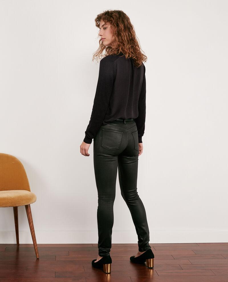 Jeans skinny enduit Noir Didi