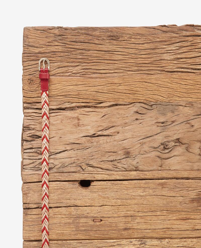 Braided leather belt Rust/dune Dardara