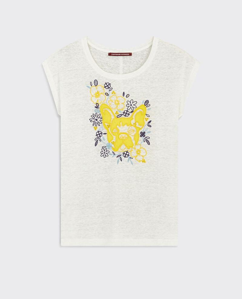 T-shirt Léon en lin  Bouton d'or Cadence