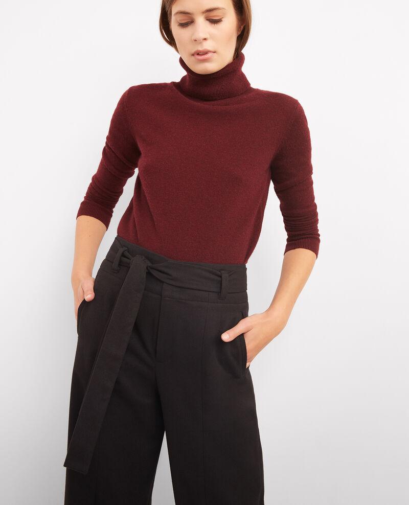 Pantalon large avec laine Noir Babricou
