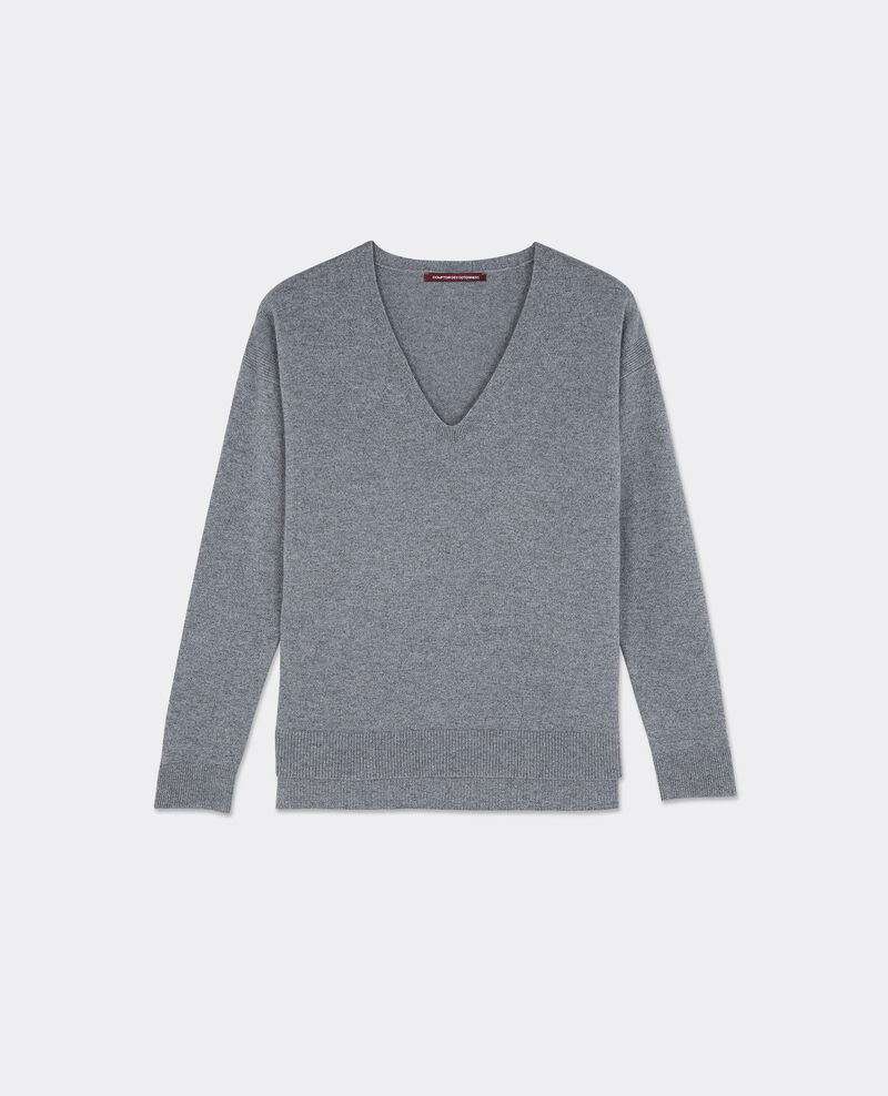 Pull oversize en cachemire Gris chine Bandito