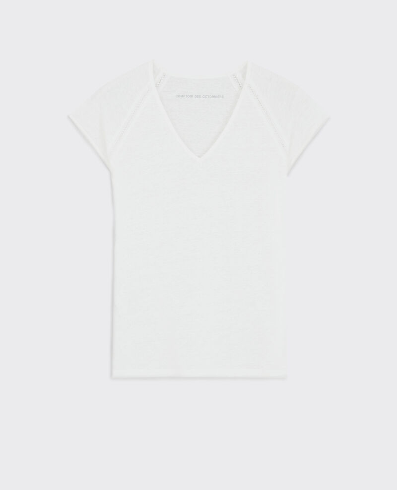 T-Shirt en lin Off white Caramel