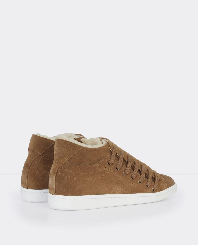 Sneakers Slash montantes et  fourrées Chamois Bitume