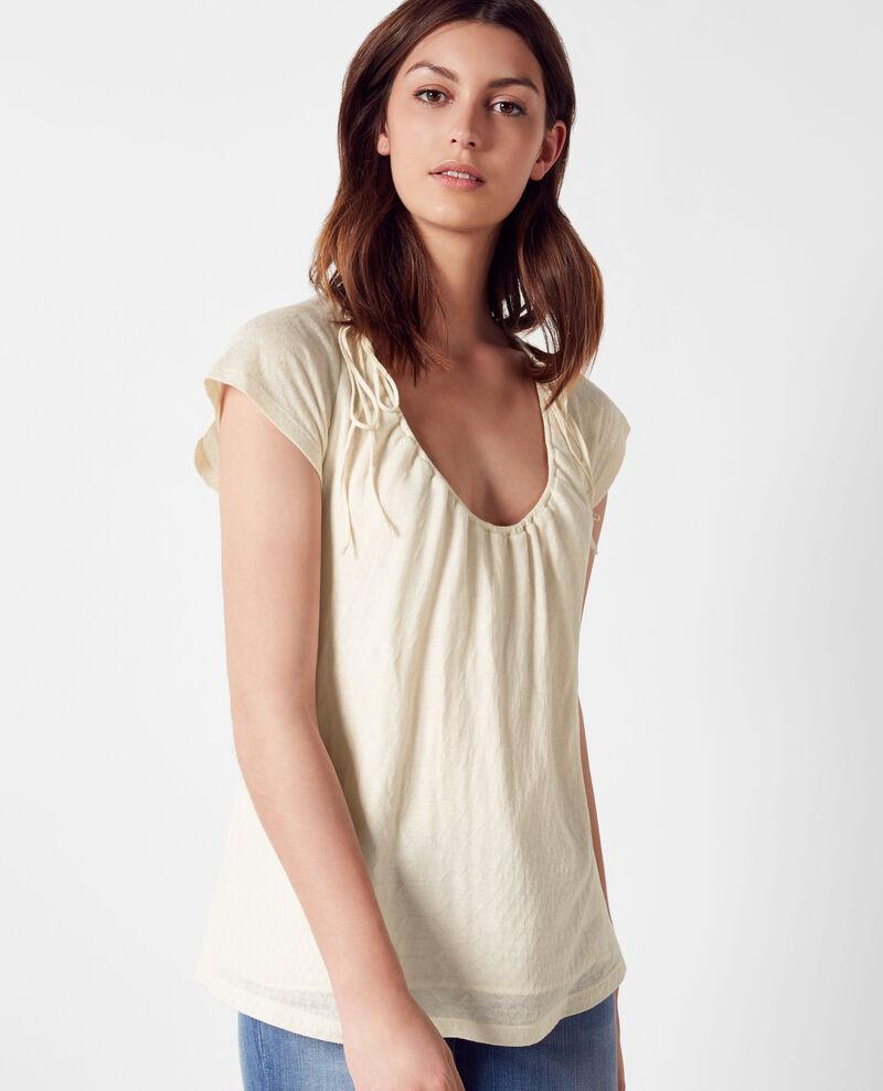 T-Shirt avec détails de lien de serrage Off white Caracas