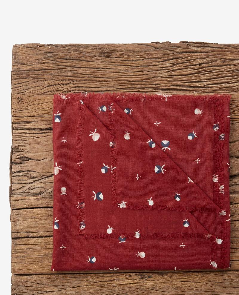 Echarpe imprimée en 100% laine Pinecones devil Dalexia