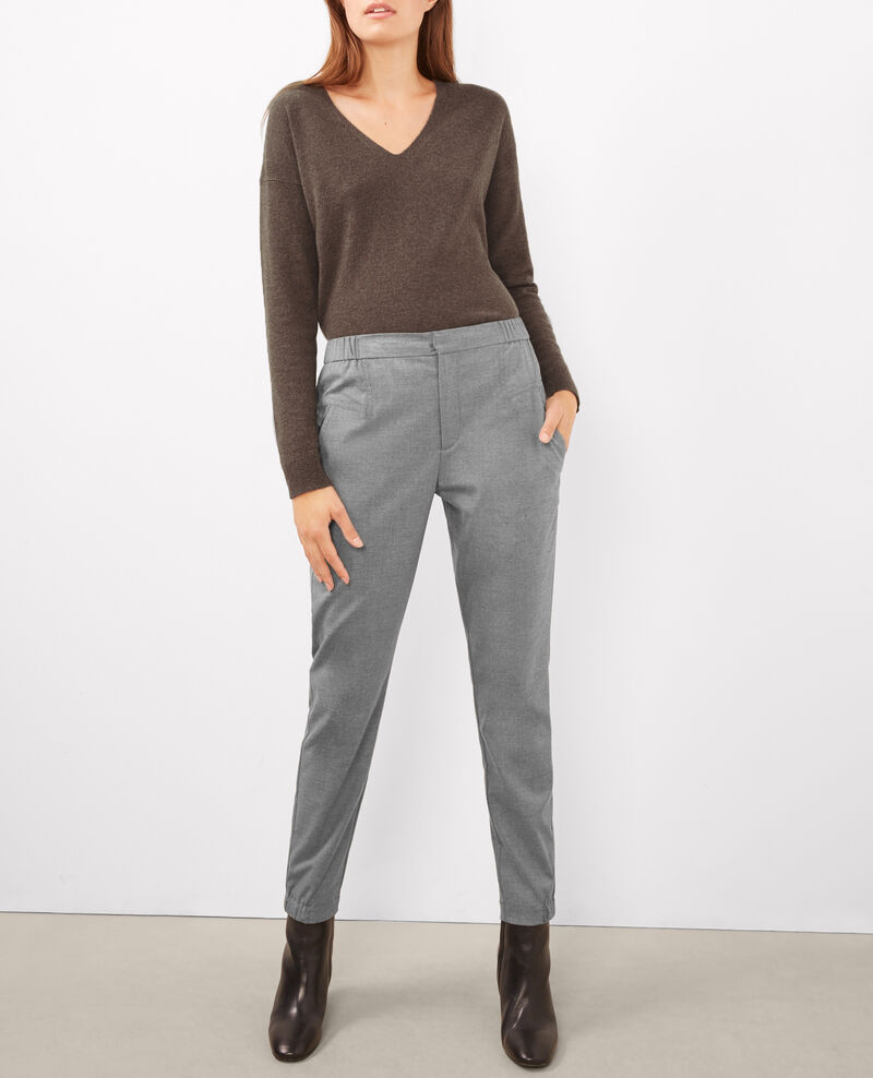 Pantalones jogging de franela Light heather grey Bikrame