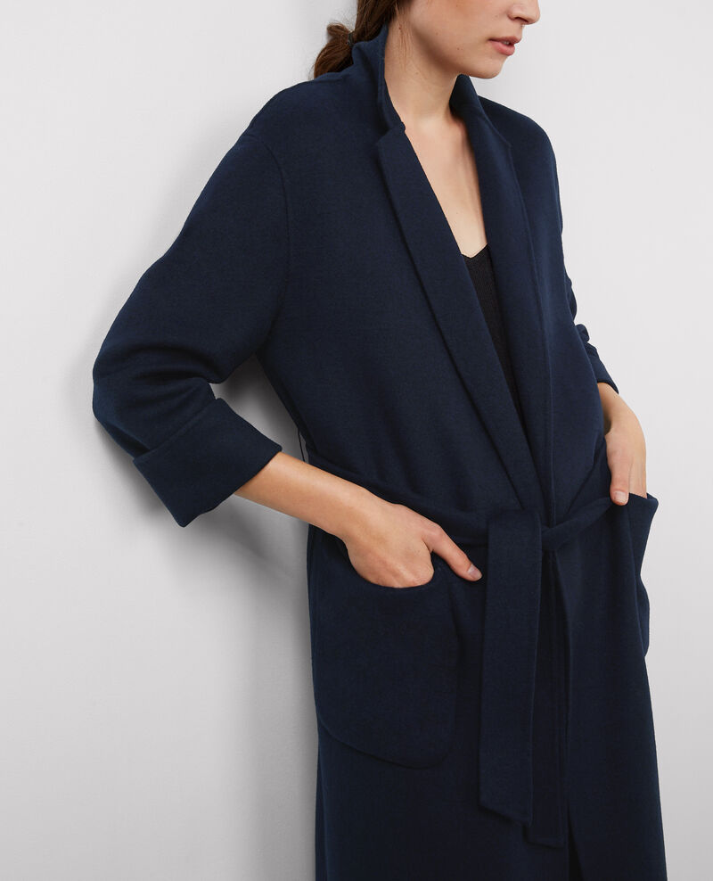 Abrigo oversize de lana Dark ocean Bille