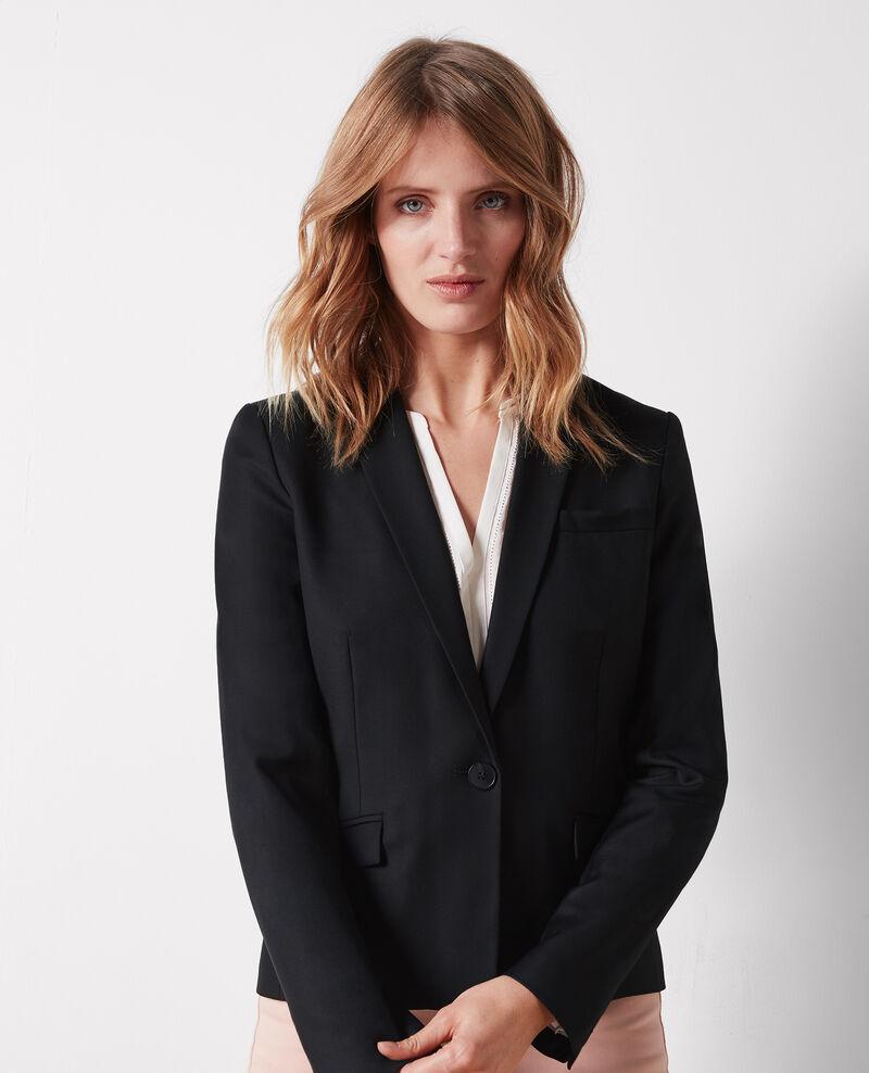 Veste office en laine Noir Celi