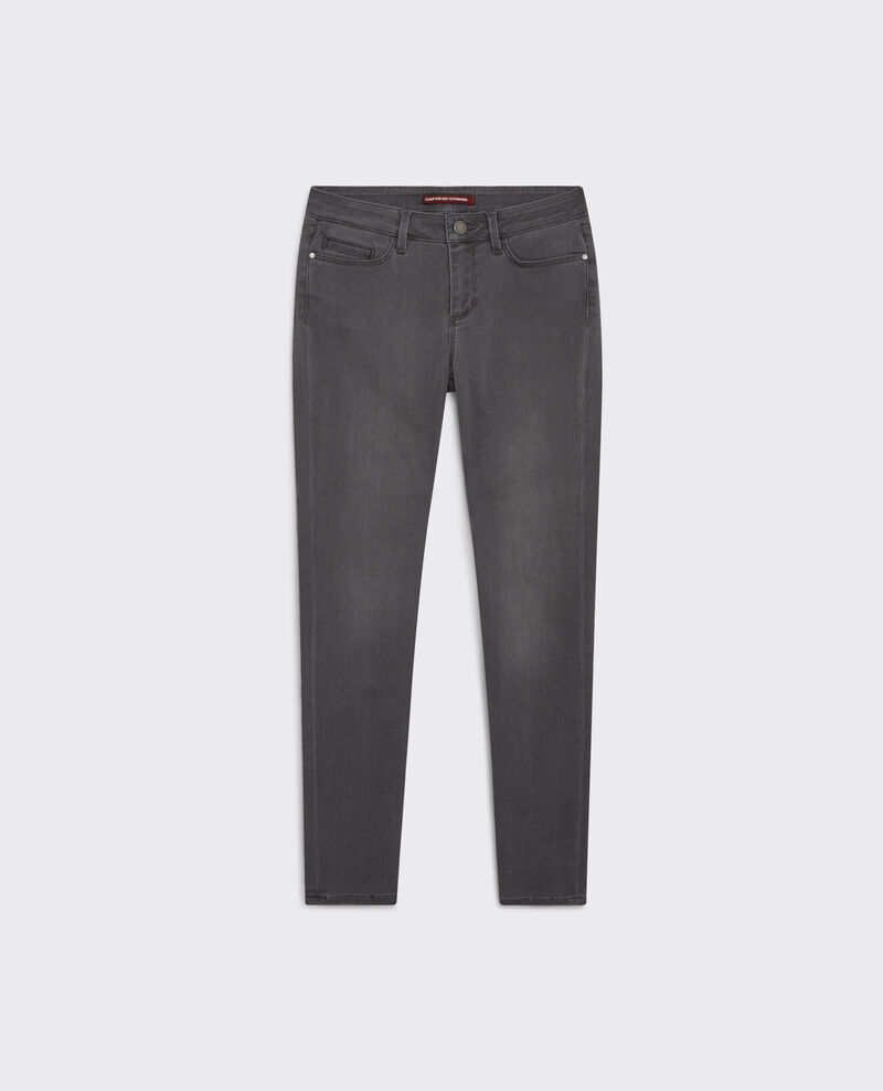 Cropped slim jeans. Light grey 9atima