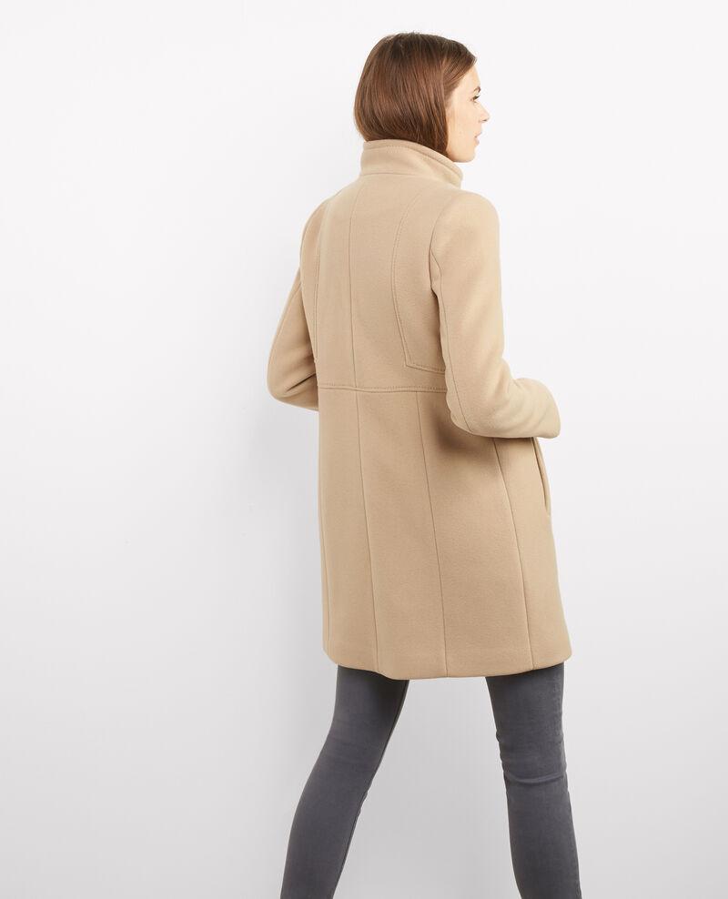 Manteau cintr en laine dune bimalu comptoir des - Manteau peau lainee comptoir des cotonniers ...