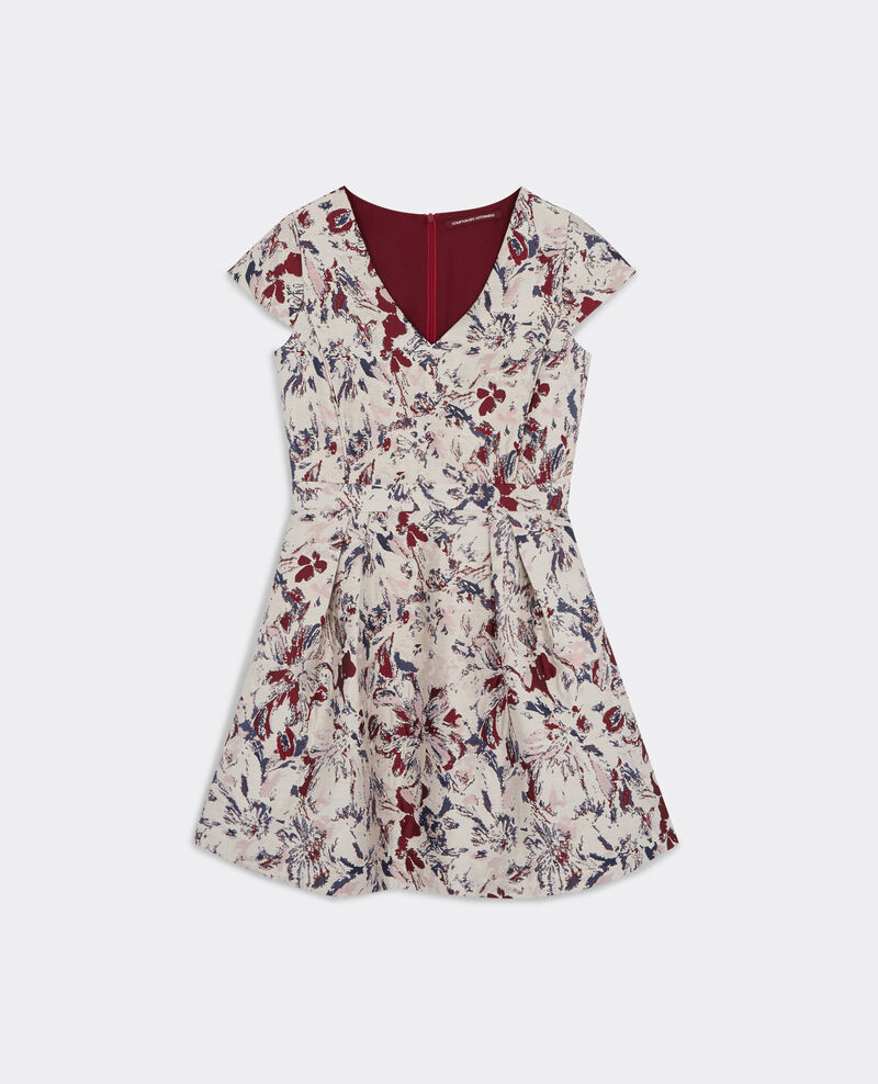 Robe en jacquard floral Off white Birly