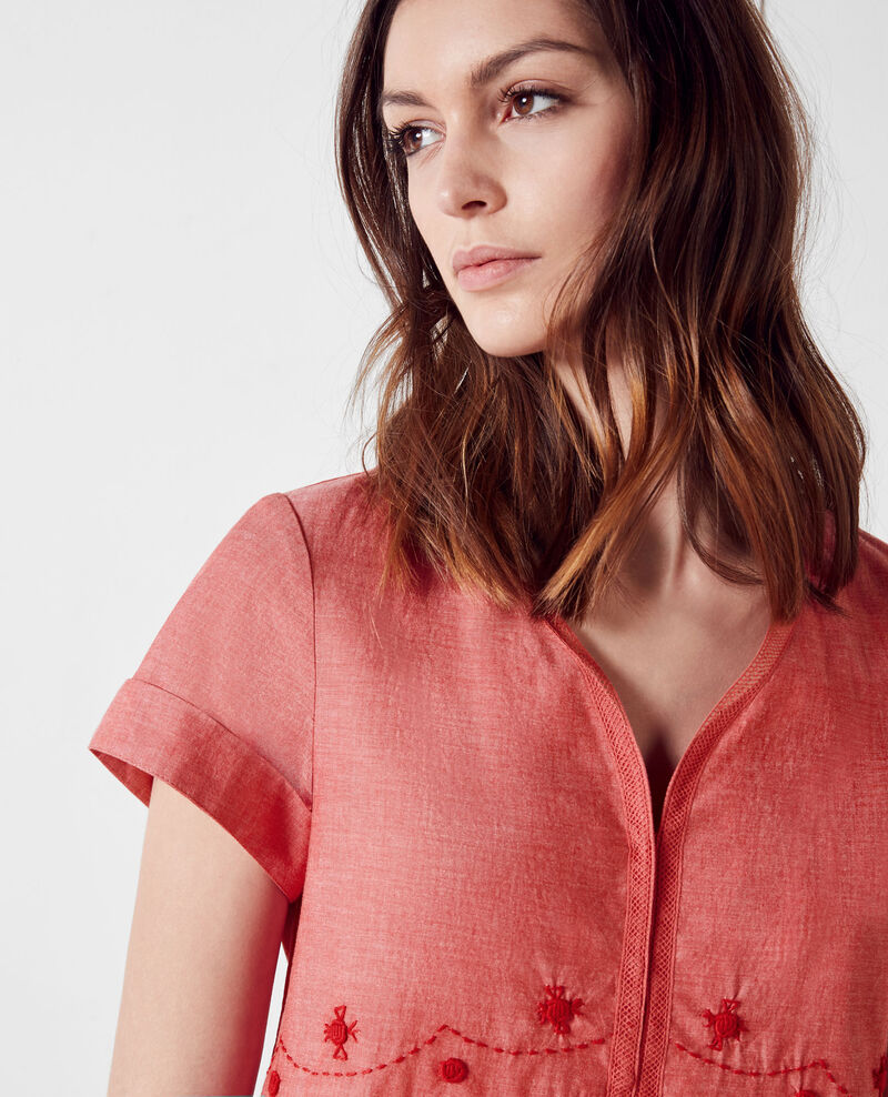 Blouse with embroidery details Tomette Cranberry