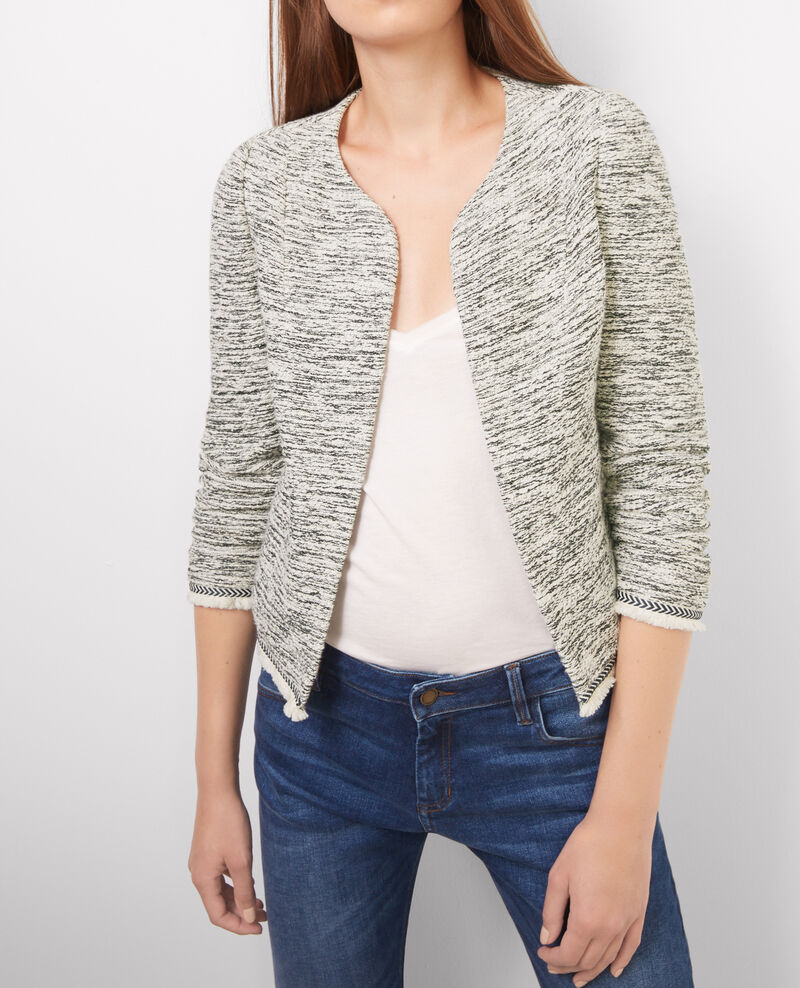 Veste courte en tweed Gris chine Bibace