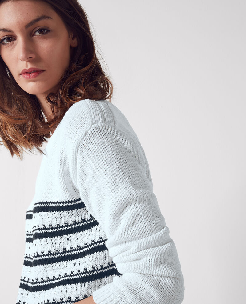 Breton-style striped jumper White/dark navy Cosette