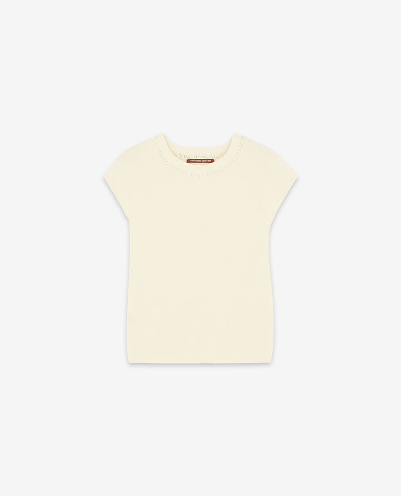 Pull manches courtes zéro coutures Off white Dalande