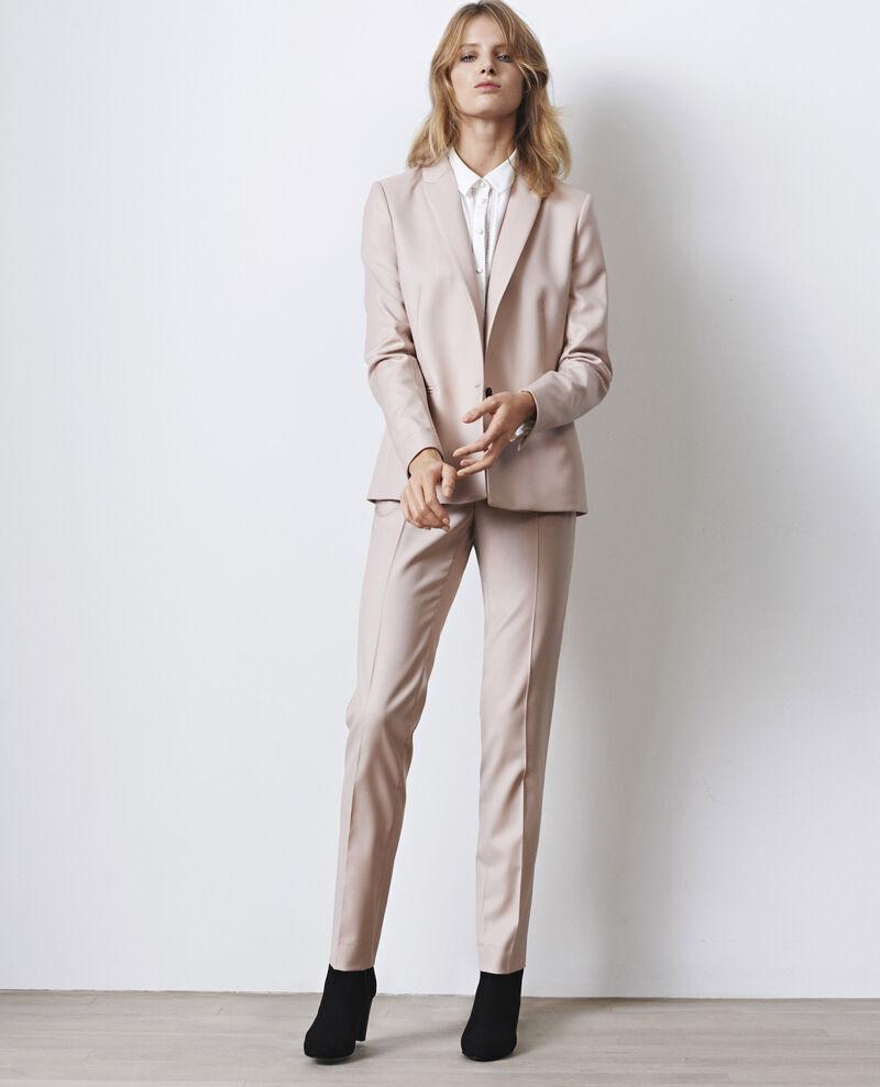 Camisa con detalle de encaje y seda Blanc Cristalina