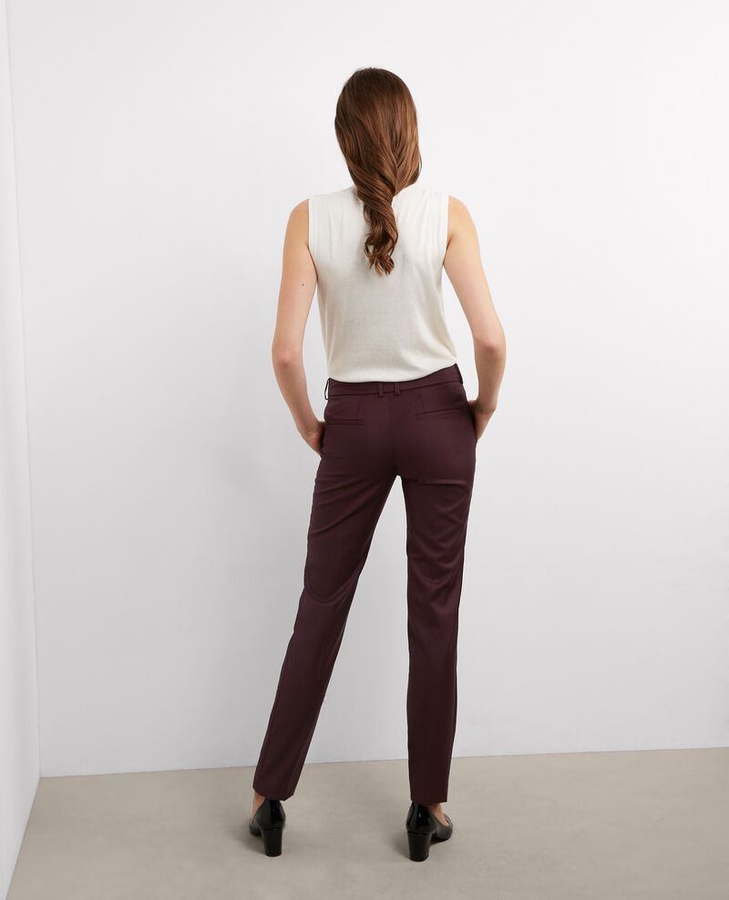 Pantalon office en laine Maroon Botiya