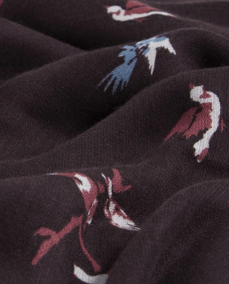 Fular estampado con mezcla de lana, seda y modal Birdy cardinal Biennale
