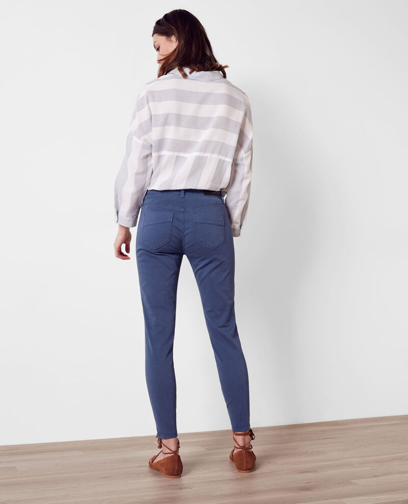 Jeans slim cropped avec surpiqures Ink blue 9bagio