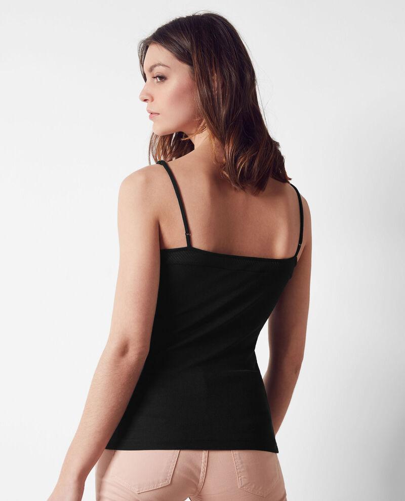 Jersey vest top Noir Cayenne