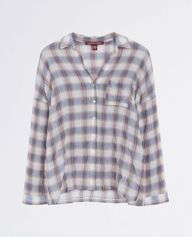 Crinkled tartan shirt  Dune/veronese Cinebello