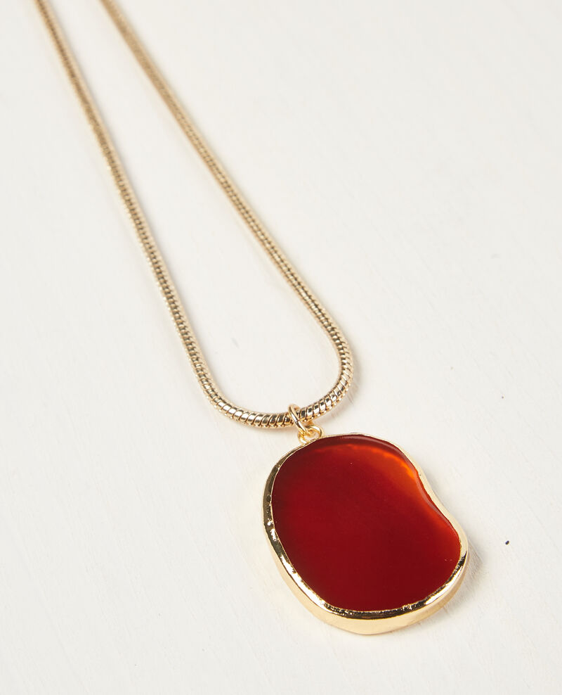 Collier avec pendentif en agate Gold/ambre Ceruleen