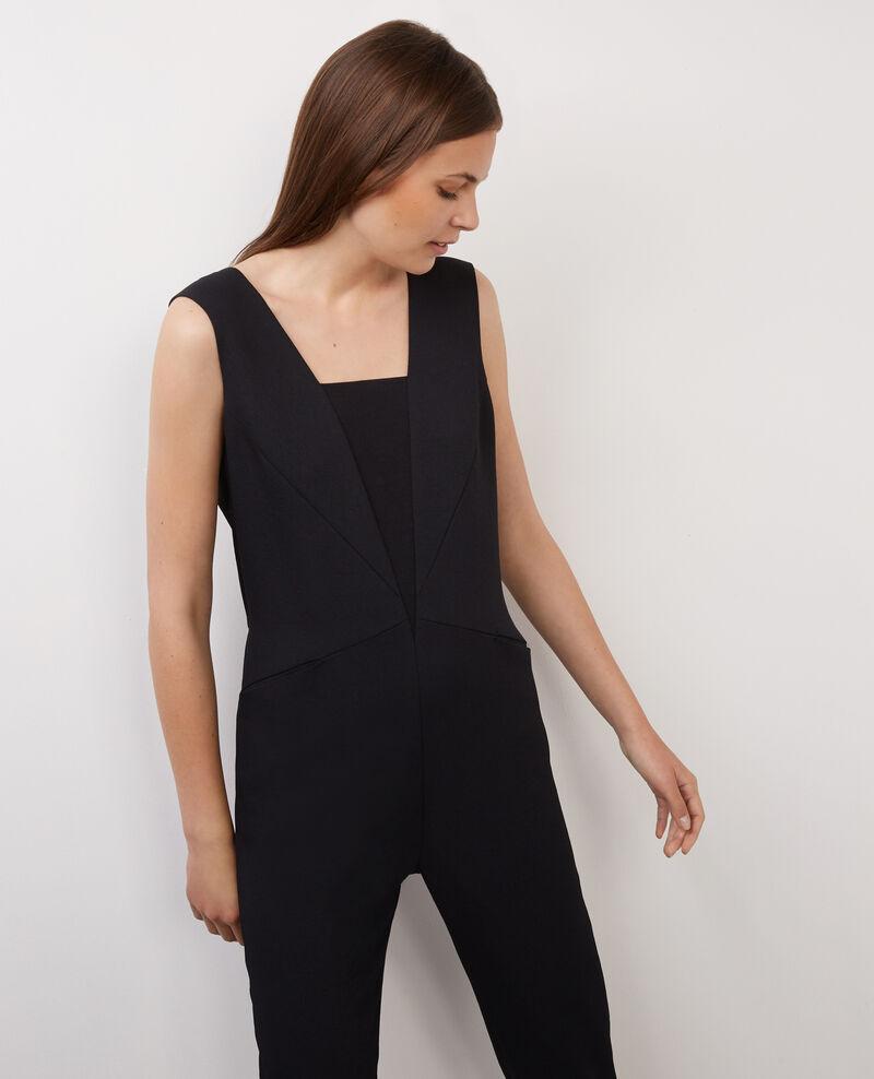 Mono pantalón de dos tejidos Noir Bijapon