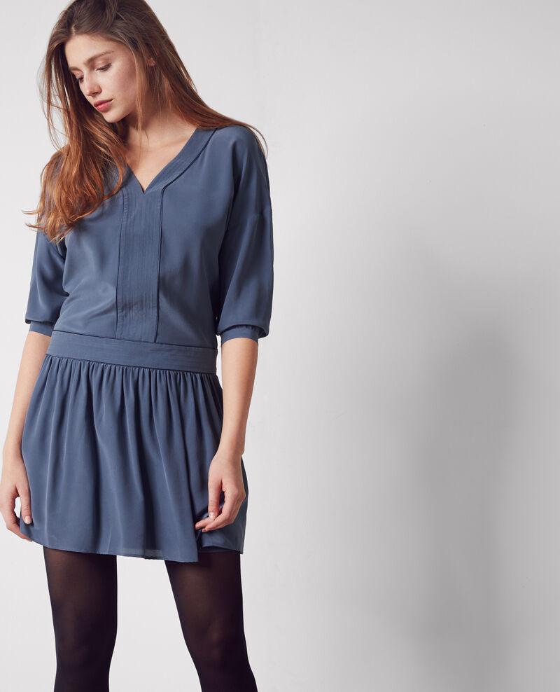 Robe en soie ink blue chanson comptoir des cotonniers - Robe blanche comptoir des cotonniers ...