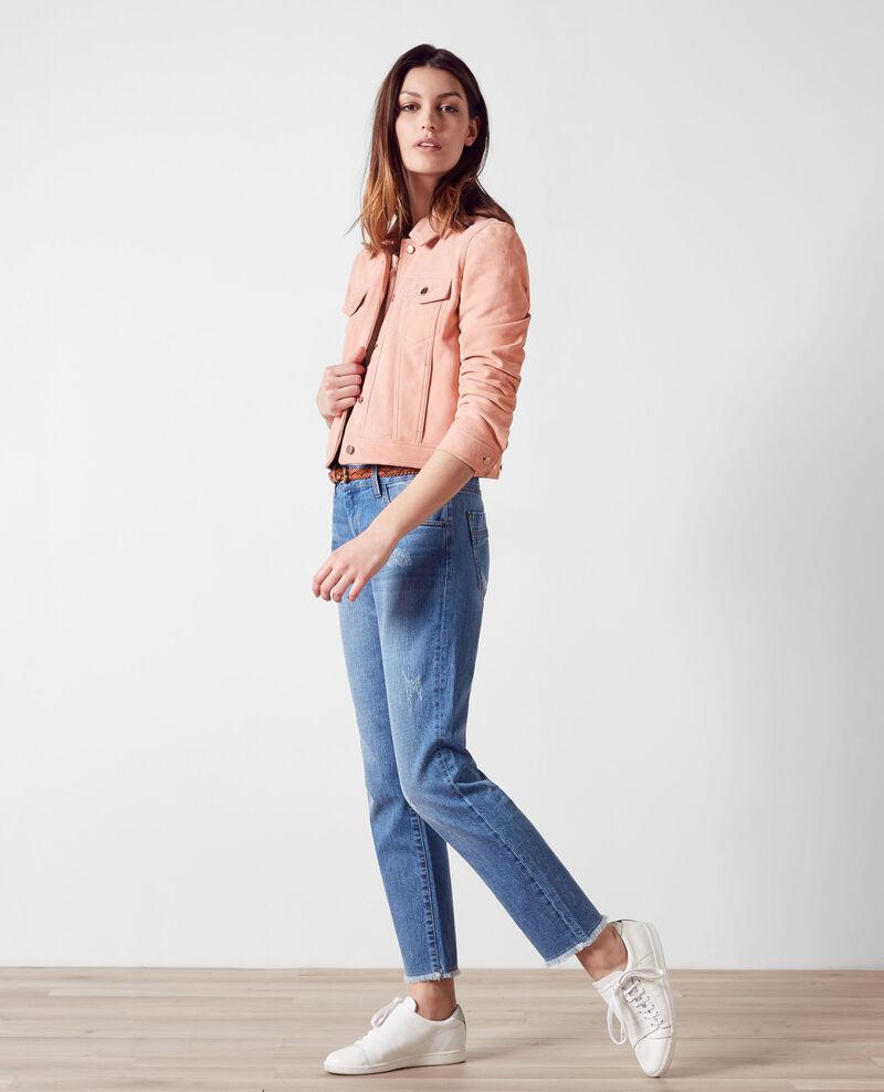 Veste courte en daim façon veste en jeans Peach 9cablodaim