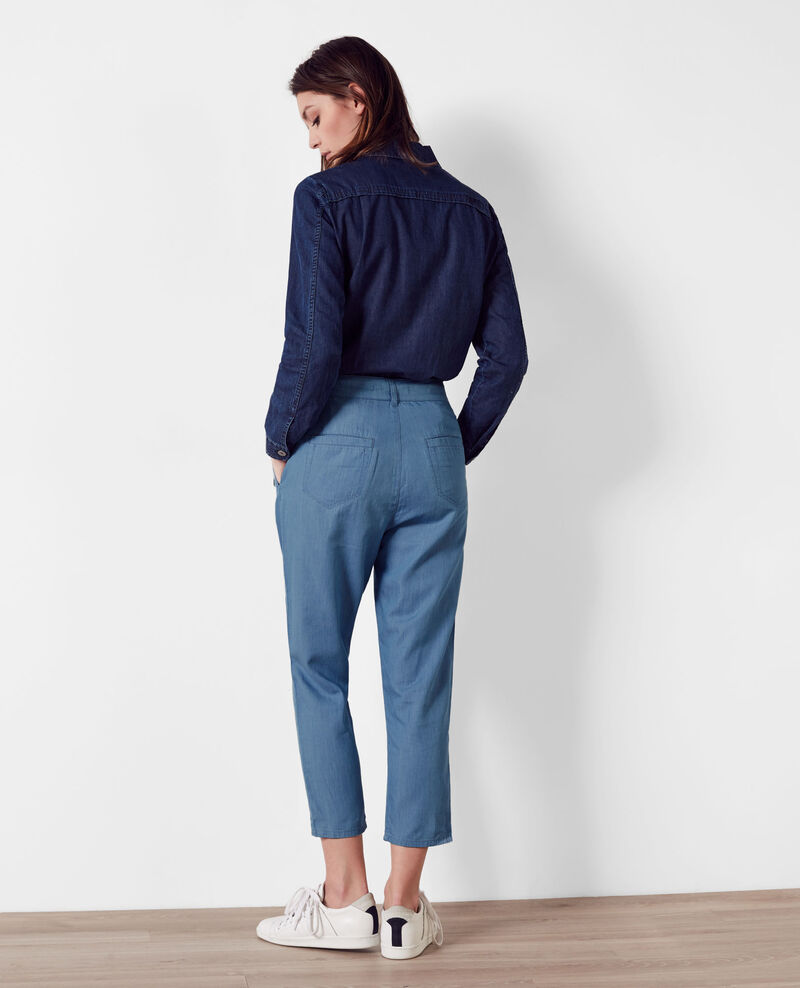 Relaxed fit denim trousers Light blue Creatif