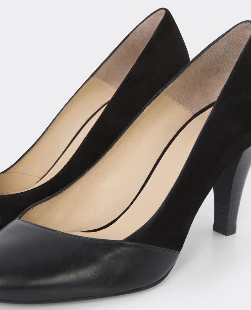 Zapatos de salón de piel Noir Ballet