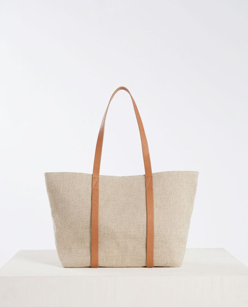 Sac shopping avec détails de cuir Lin Caballobis