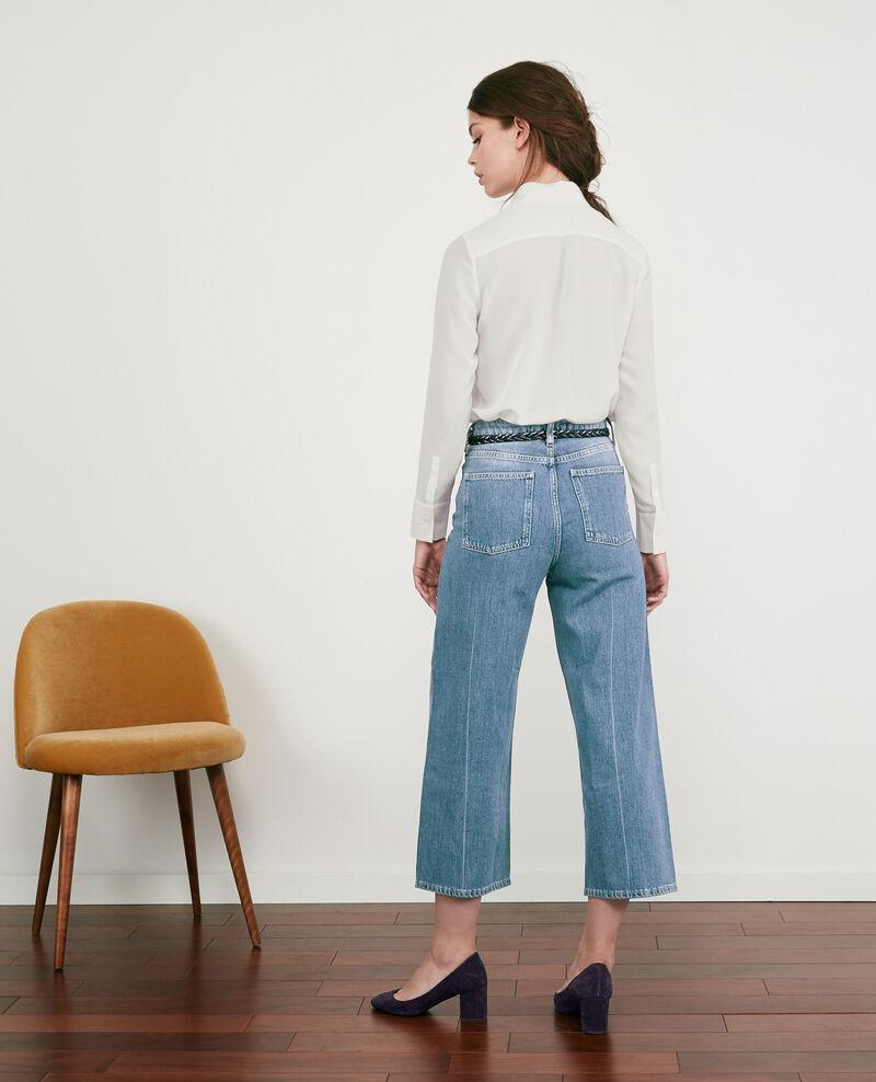 Weite Cropped-Jeans Vintage wash Delente