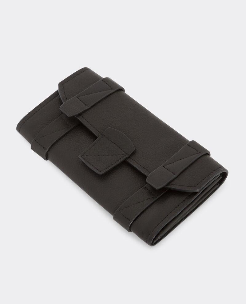 Portefeuille en cuir Noir Bepsy