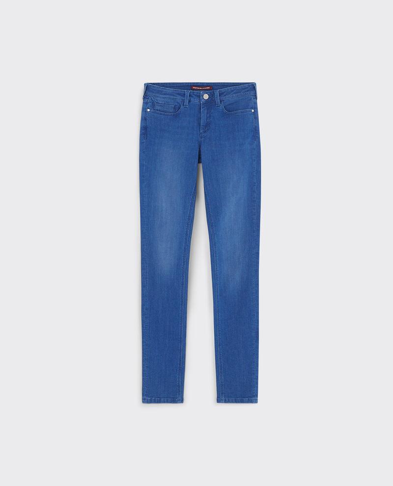 "Slim-Jeans ""Ma demoiselle"" Cristal blue Cibou"
